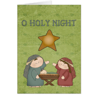 Christmas Collection O Holly Night Greeting Card