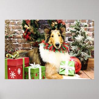 Christmas - Collie - Bean Poster