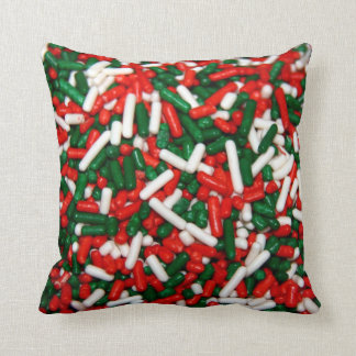 Christmas Colored Sprinkles Pillow