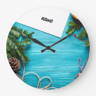 Christmas, colorful, rainbow colors, advent, tree large clock