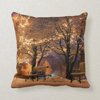 Christmas, colorful, rainbow colors, advent, tree throw pillow