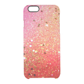 Christmas, colorful, rainbow colors clear iPhone 6/6S case