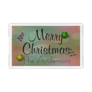 Christmas Colors Acrylic Tray