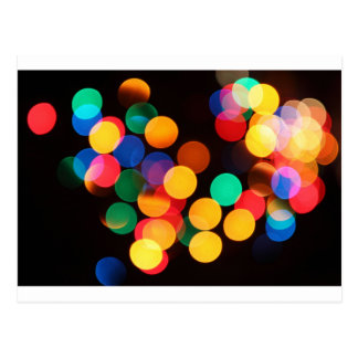 Christmas colors lights postcard