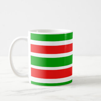Christmas Colors Stripes Coffee Mug