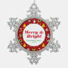 Christmas Colourful Objects Snowflake Pewter Christmas Ornament