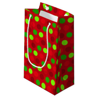 Christmas Colours Polka Dots Small Gift Bag