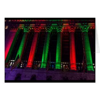 Christmas Columns on Wall St Card