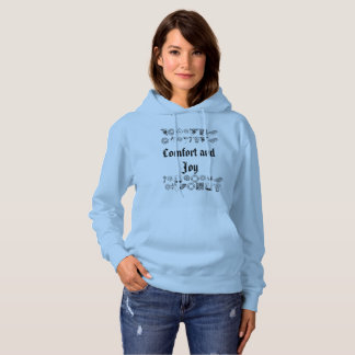 Christmas Comfort and Joy with xmas pictures Hoodie
