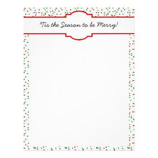 Christmas Confetti •   Royal Icing Sprinkles Customized Letterhead
