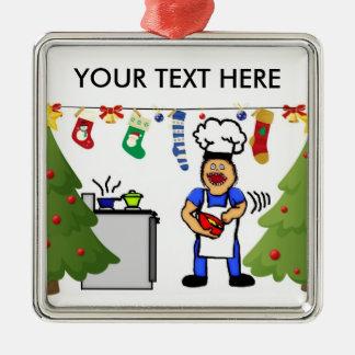 Christmas Cook Metal Ornament