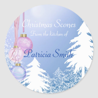 Christmas Cookie, Candy, Sweets, Custom Classic Round Sticker