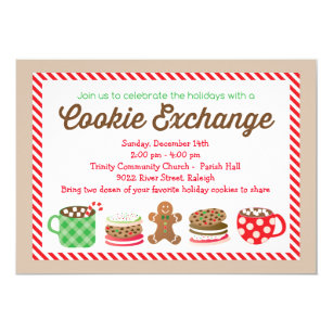 Cookie Exchange Invitations Announcements Zazzle Ca