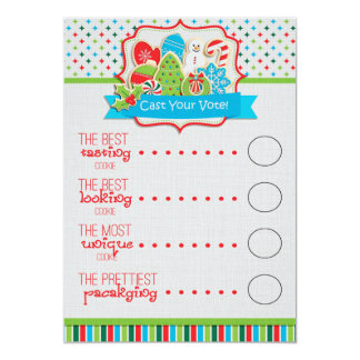 Christmas Cookie Exchange Voting Ballots Card