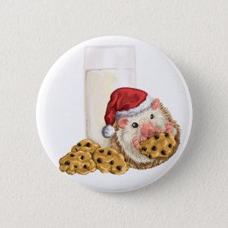 Christmas Cookie Hog 2 Inch Round Button