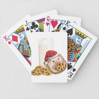 Christmas Cookie Hog Bicycle Playing Cards