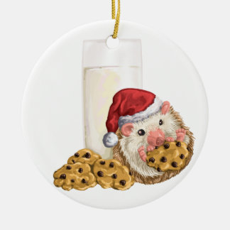 Christmas Cookie Hog Ceramic Ornament