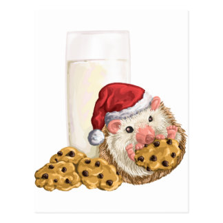 Christmas Cookie Hog Postcard