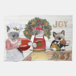 Christmas Cookie Kitten Kitchen Towel