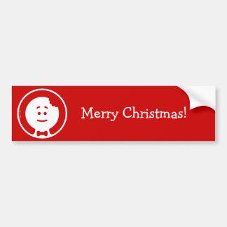 Christmas Cookie Man Avatar Bumper Sticker