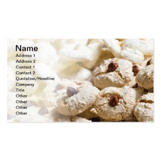 Christmas cookies business card template