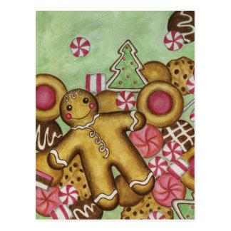 Christmas Cookies Close Up Postcard