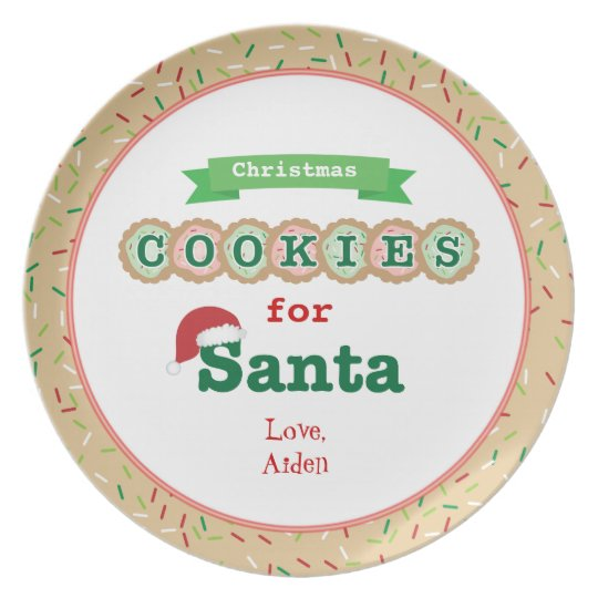 Christmas Cookies For Santa Personalized Plate