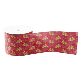 Christmas cookies & gingerbread grosgrain ribbon