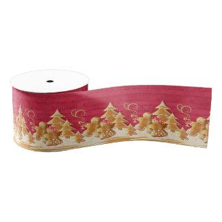 Christmas cookies & gingerbread grosgrain ribbon