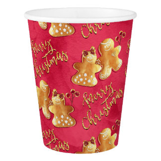 Christmas cookies & gingerbread paper cup