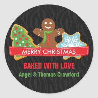 Christmas Cookies Home Baked Classic Round Sticker