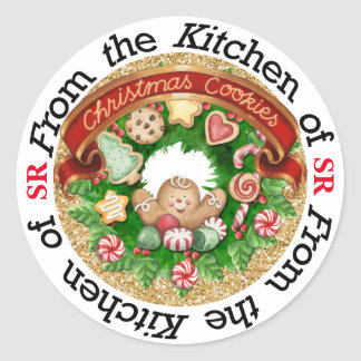 Christmas Cookies Kitchen Sticker - SRF