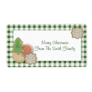 Christmas Cookies Label Shipping Label