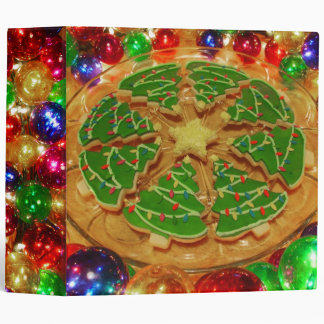 Christmas Cookies Large Recipe 3 Ring Binder