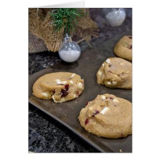 Christmas cookies on cookie sheet card