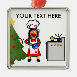Christmas Cooking and Baking Metal Ornament