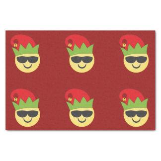 Christmas Cool Elf Emoji Tissue Paper