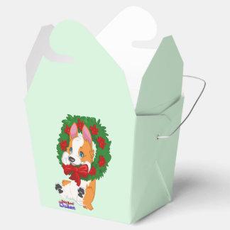 Christmas Corgi Gift Box Wedding Favor Boxes