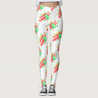 Christmas Corgi Word Cloud Leggings