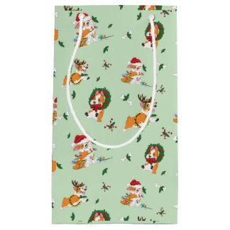 Christmas Corgis Gift Bag