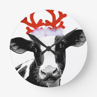 Christmas Costume Dairy Cow Clocks