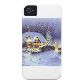 Christmas Cottage iPhone 4 Case