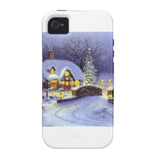 Christmas Cottage Case-Mate iPhone 4 Covers