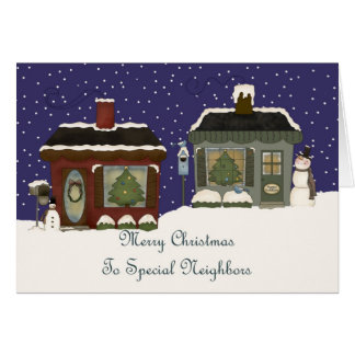 Christmas Cottages For a Special Neighbors Card
