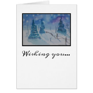 Christmas Country Landscape Card