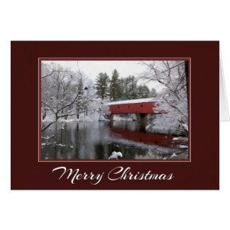 Christmas Covered Bridge Card