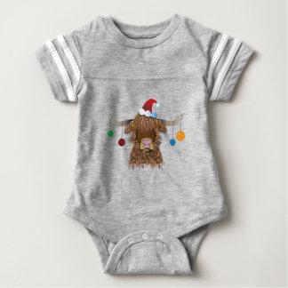 Christmas Cow Baby Bodysuit