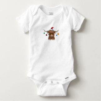 Christmas Cow Baby Onesie