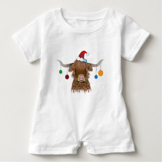 Christmas Cow Baby Romper