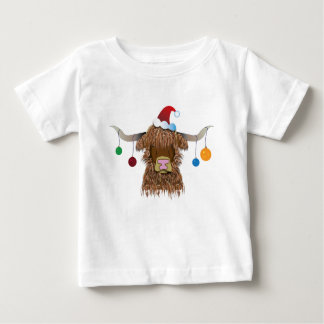 Christmas Cow Baby T-Shirt